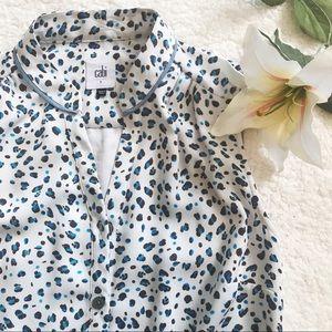CABI Cheetah Print Button Down Dress